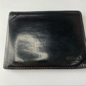 Men's Coach Black Leather Bi-fold Wallet